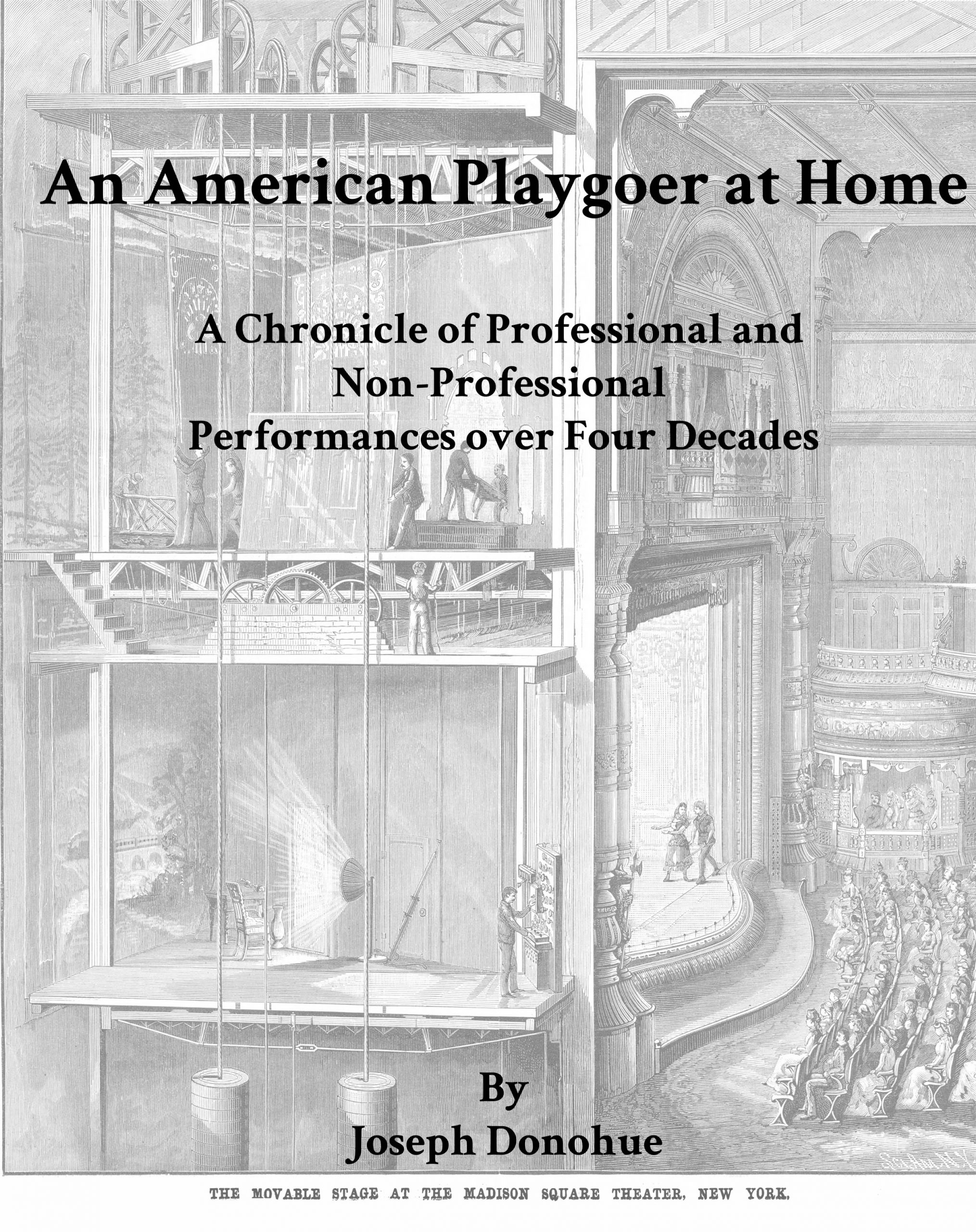 Cover image for An American Playgoer at Home