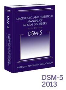 Image of a blue book: DSM-5.